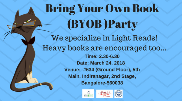 Bring Your Own Book (BYOB) Party on March 24, 2018 (Saturday)